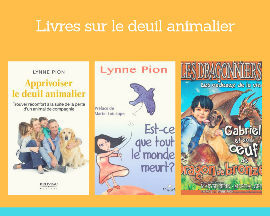 livres Lynne Pion deuil animalier